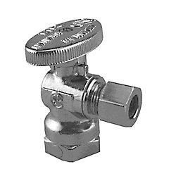 Boshart Canada Jag Plumbing Packs - 3/8 Inch FPT x 3/8 Inch COMP Angled shut off Valve(4 -pack)