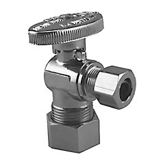Jag Plumbing Packs - 5/8 Inch COMP x 3/8 Inch COMP Angle shut off Valves(4 -pack)