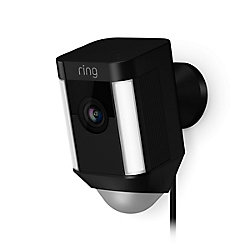 Ring Spotlight Cam Wired Security Camera in Black