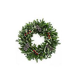 Brookdale Treeland Nurseries 28-inch Fraser Fir Holiday Wreath (2-Pack)