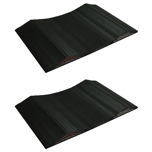 Park Smart 15-inch Wide Tire Saver Ramp for Small Vehicles (2-Pack)