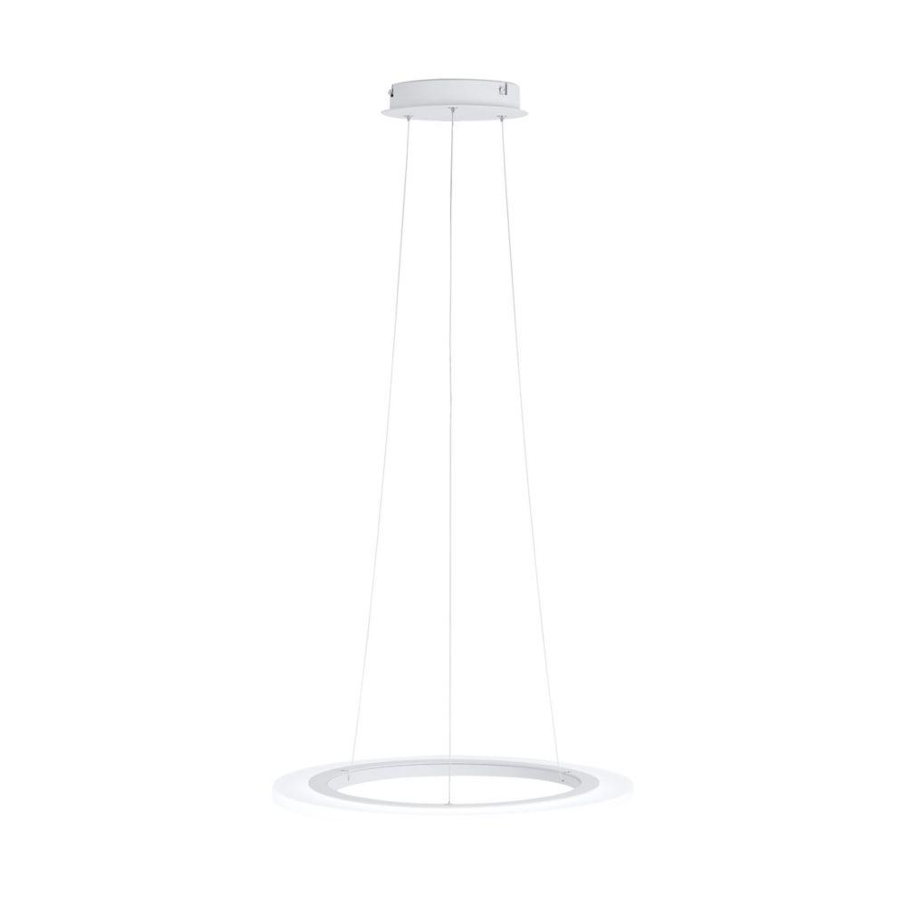 Eglo Penaforte LED Pendant Light, White Finish with Clear Acrylic Shade