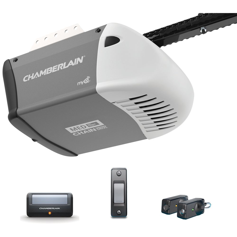 Chamberlain 1/2 HP Heavy-Duty Chain Drive Garage Door Opener with MED Lifting Power