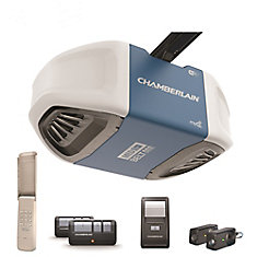 Smartphone-Controlled Ultra-Quiet & Strong Belt Drive Garage Door Opener w/MED Lifting Power
