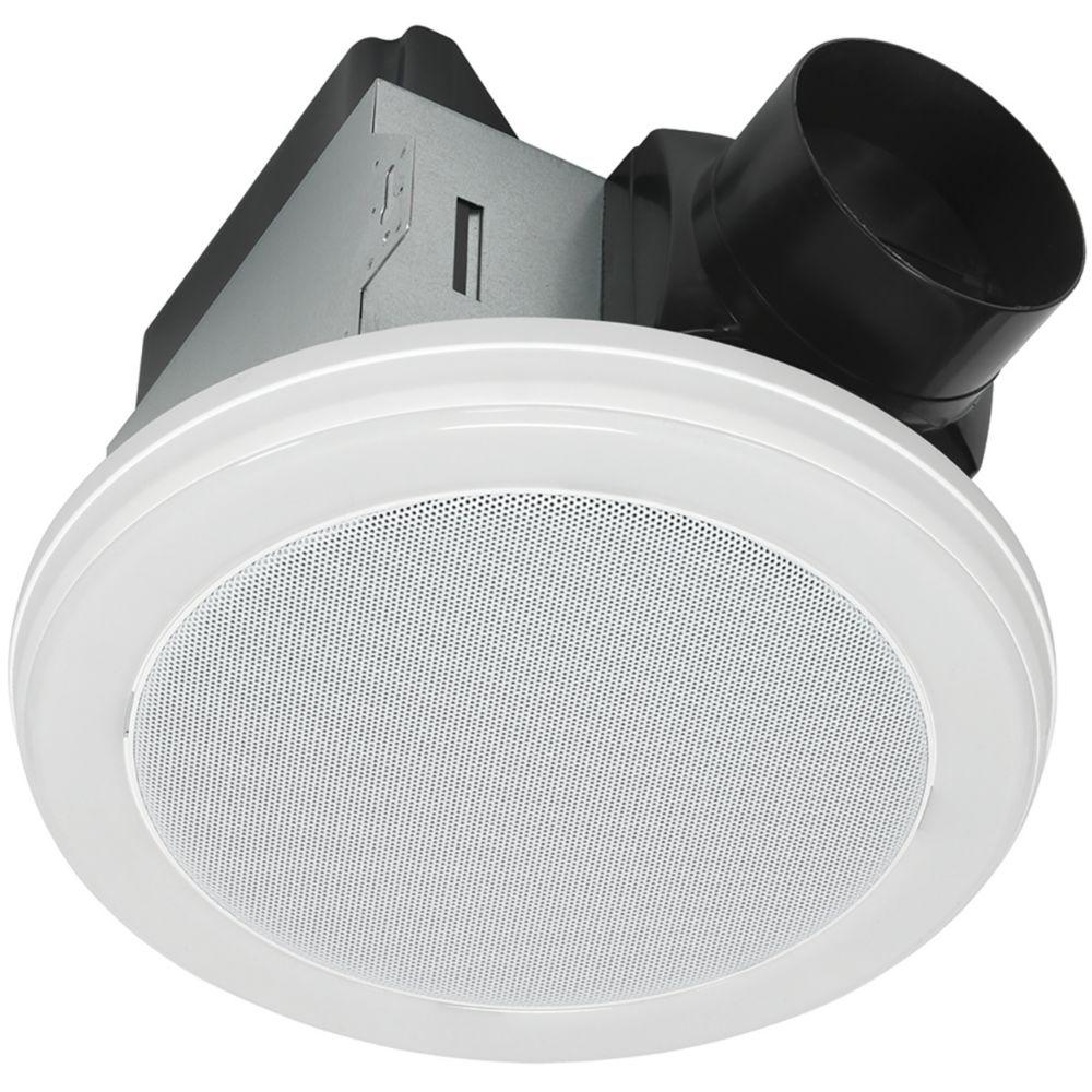 Home netwerks bath fan and speaker in one 70 cfm with - Bluetooth speaker bathroom light ...