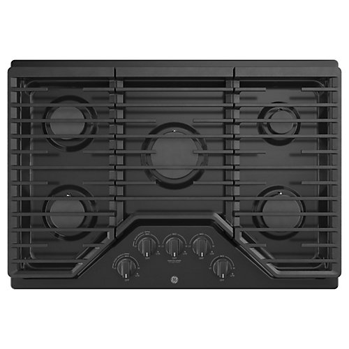 30 Built-In Gas Deep Recessed Edge-to-Edge Black Cooktop