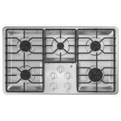 GE 36 Built-In Gas Deep Recessed Stainless Steel Cooktop