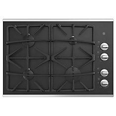 30 Built-In Gas on Glass Deep Recessed Stainless Steel Cooktop