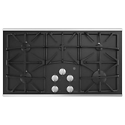 GE 36-inch W Gas Cooktop with 5 Burners including Power Boil Burner in Stainless Steel