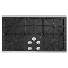 36 Built-In Gas on Glass Deep Recessed Stainless Steel Cooktop