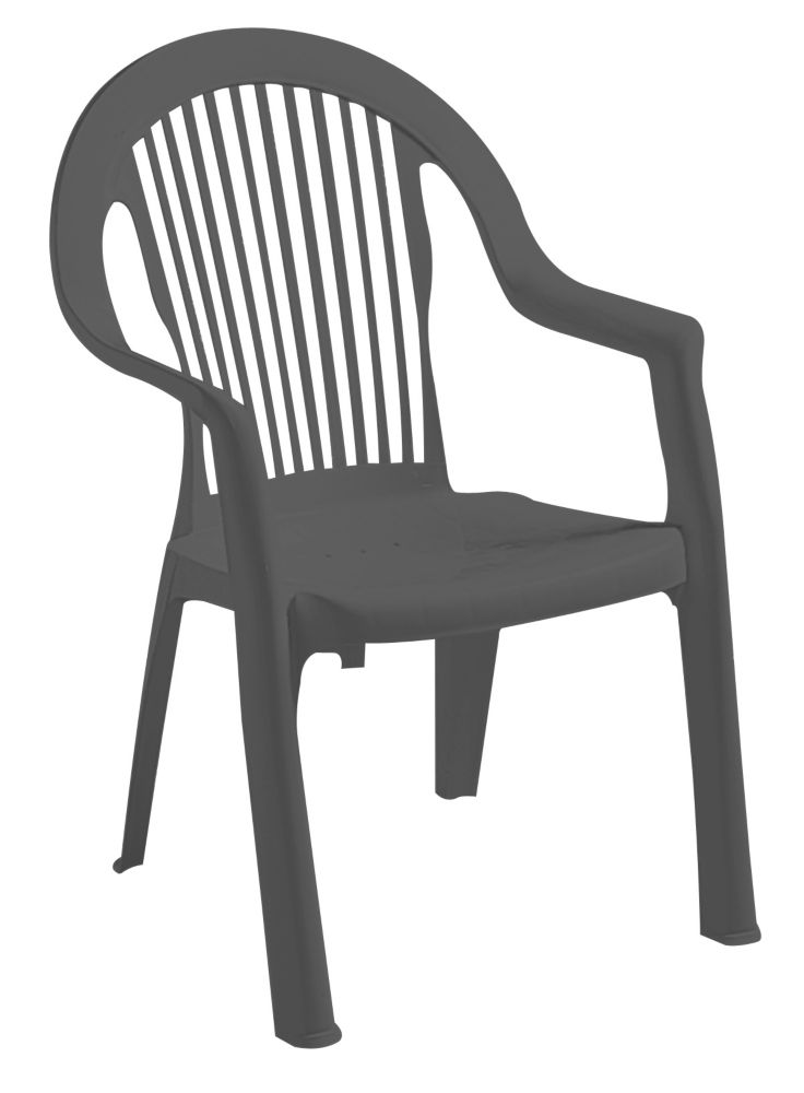 Gracious Living Newport Chair, Grey
