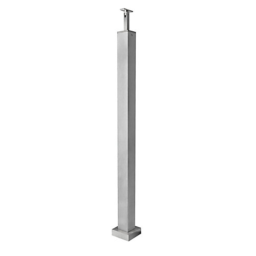 Aluminum Newel Post 2 inch x 2 inch x 34-1/2 inch or 36 inch