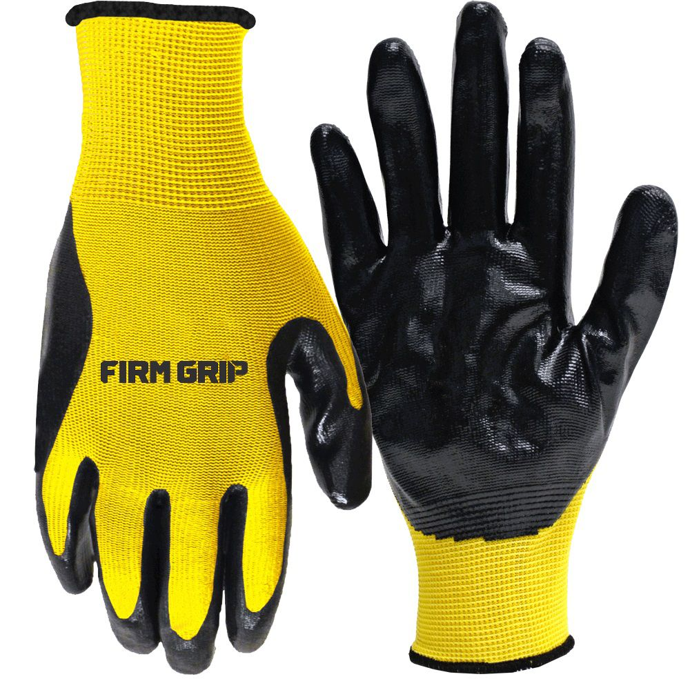 Firm Grip Nitrile Coated Gloves 12 Pair - Buy 10 Pairs, Get 2 FREE!
