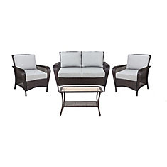 Ellon Wicker 4 PC Set