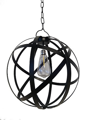 Solar Sanctuaries G Light Collection LED Battery Operated Outdoor Globe Gazebo Pendant