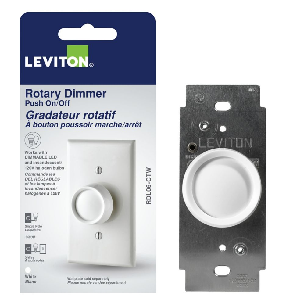 Leviton-Trimatron Rotary Dimmer Push ON/Push OFF Electro-Mechanical