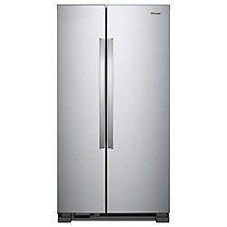 33-inch 22 cu. ft. Side by Side Refrigerator in Monochromatic Stainless Steel
