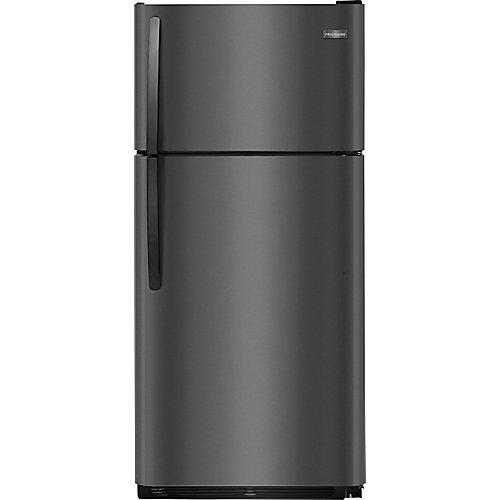Réfrigérateur supérieur de 30 po W 18 pi. cu. en acier inoxydable noir pour congélateur de 30 po.
