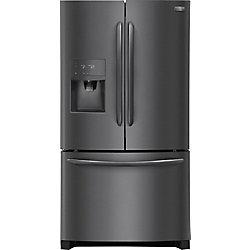 Réfrigérateur à porte française en acier inoxydable noir de 36 po W 26,8 pi3 - ENERGY STAR®