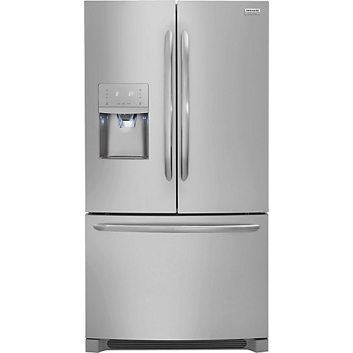 36-inch W 26.8 cu. ft. French Door Refrigerator in Stainless Steel - ENERGY STAR®