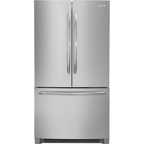 36 po. 27,6 pi.cu. Réfrigérateur à porte française en acier inoxydable - ENERGY STAR®