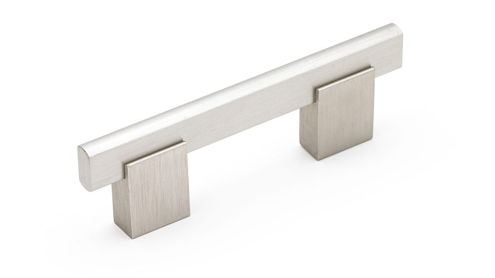 Richelieu Contemporary Metal and Aluminum Pull 3 in (76.2 mm) CtoC - Brushed Nickel  - Madison Collection