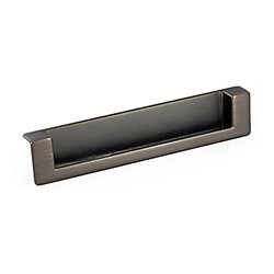 Richelieu Contemporary Metal Pull - Brushed Oil-Rubbed Bronze - 128 mm C. To C.