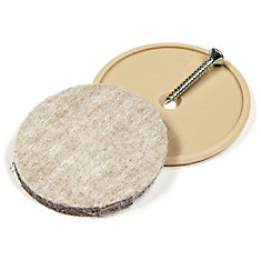 ECO FELTAC - Beige Nail-on Felt Pads