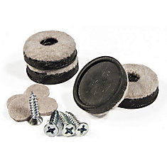 SUPER FELTAC Heavy-Duty Round Furniture Felt on Vinyl Pads