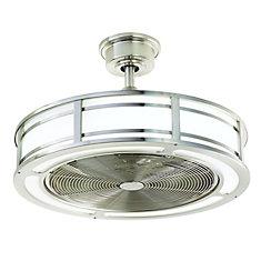 Brette 23 po. Ventilateur de plafond intérieur / extérieur en nickel brossé