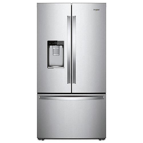 Réfrigérateur Whirlpool® à portes françaises et profondeur de comptoir, 36 po, 24 pi3 - ENERGY STAR®