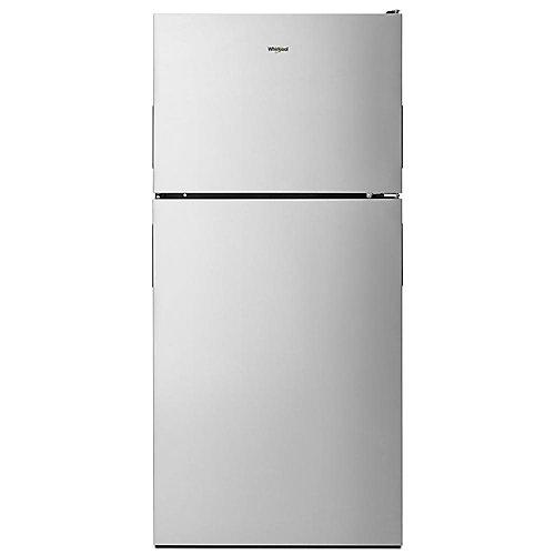 Réfrigérateur à congélateur supérieur, 30 po, 18,2 pi3, acier inoxydable résistant aux taches - ENERGY STAR®