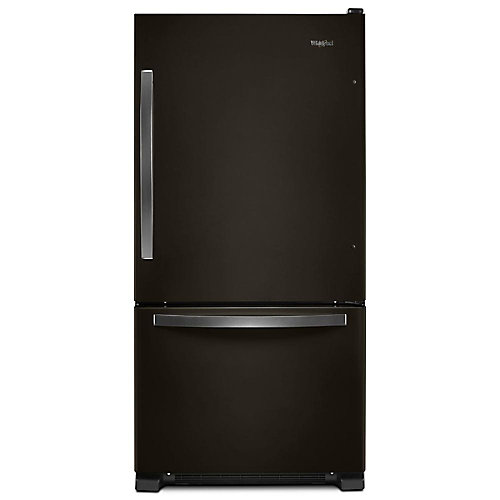 Réfrigérateur de fond de congélateur de 33 po W 22 pi3 en acier inoxydable noir - ENERGY STARMD