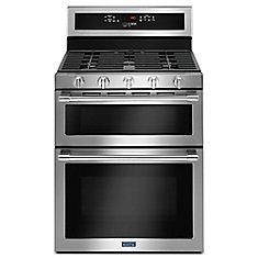 6.0 cu. ft. Double Oven Gas Range with Self-Cleaning Convection Oven in Fingerprint Resistant Stainless Steel