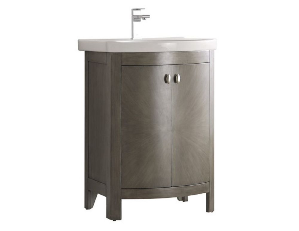Fresca hudson 24 inch w traditional bathroom vanity in black with ceramic vanity top in white for 24 inch white bathroom vanity with top
