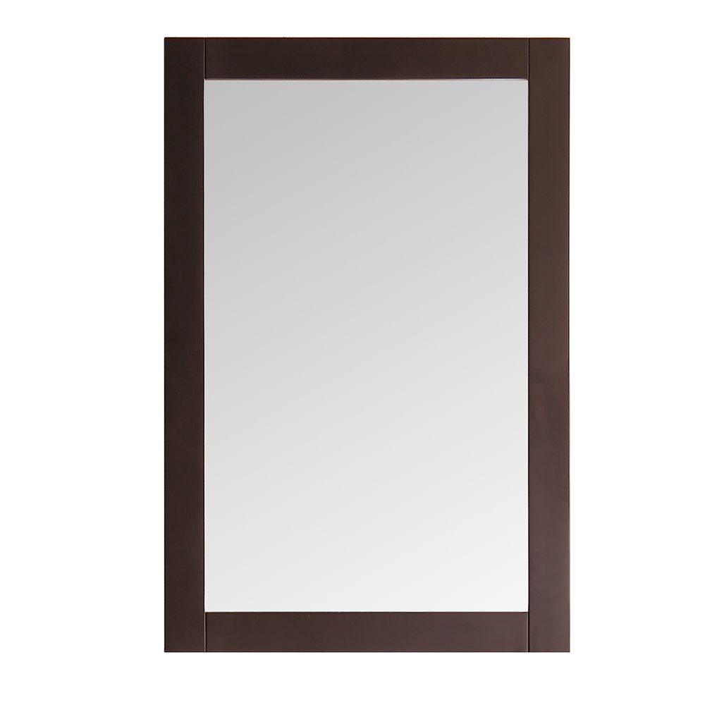 Niagara 20 in. x 30 in. Mirror in Antique Coffee Finish