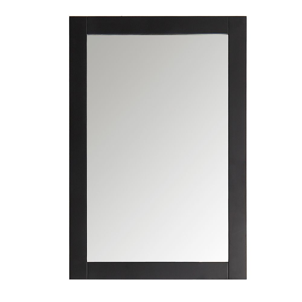Fresca Hudson 20-inch W x 30-inch H Framed Wall Mirror in Black Finish