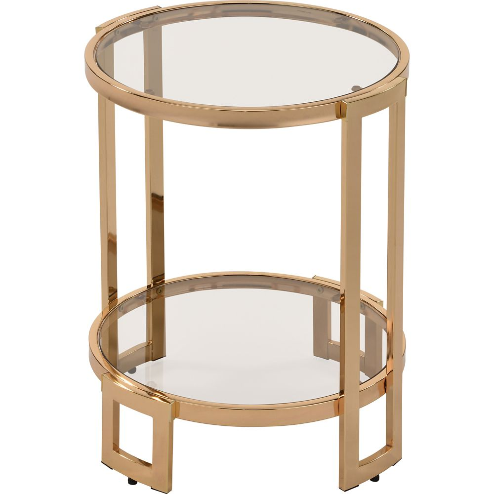 !nspire Bogdon Accent Table in Gold