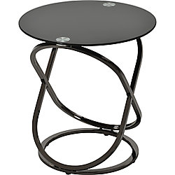 !nspire Carlyn Accent Table in Black Nickel