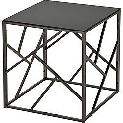 !nspire Giada Accent Table in Black and Nickel