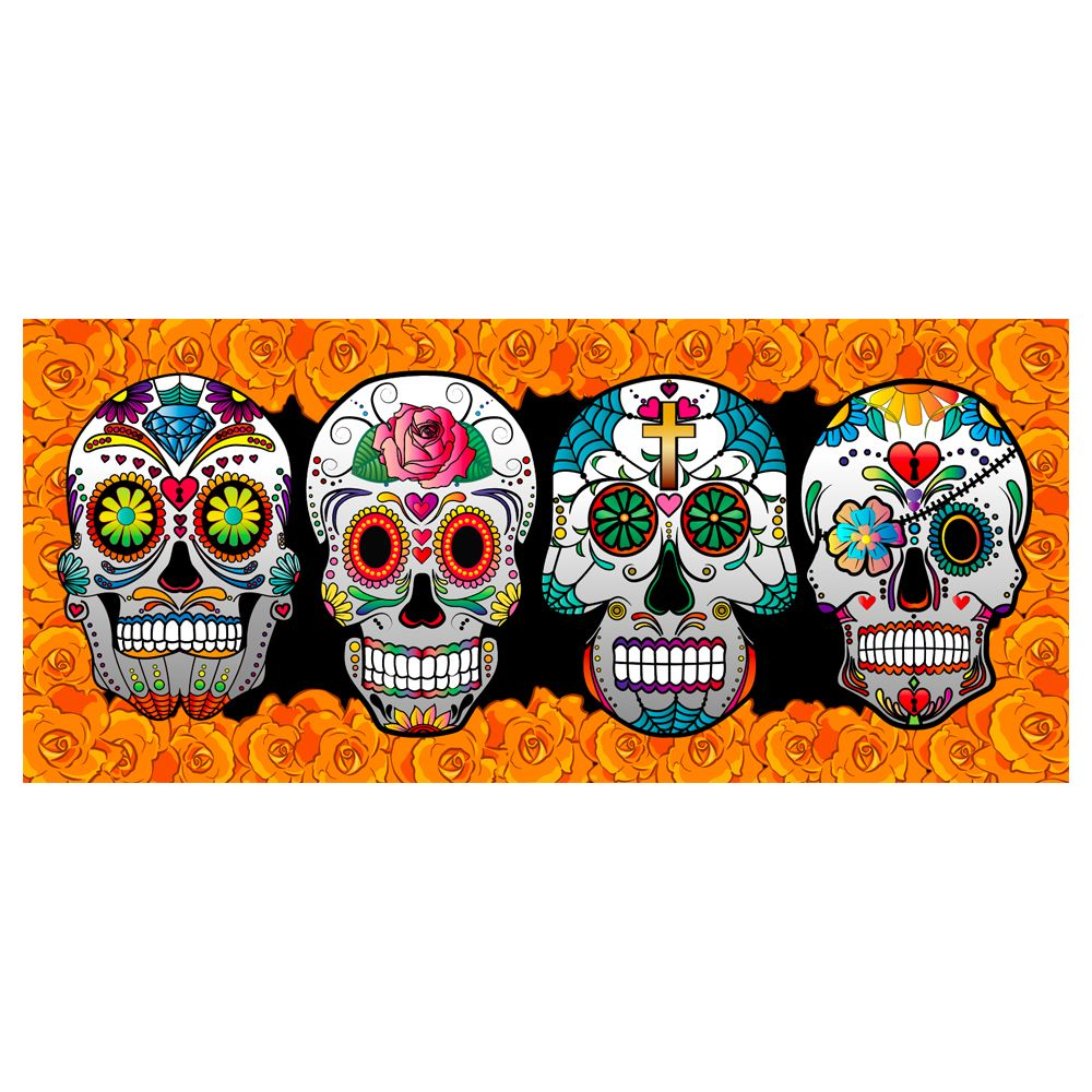 CTM Holiday Fun Balcony Banner - Sugar Skulls