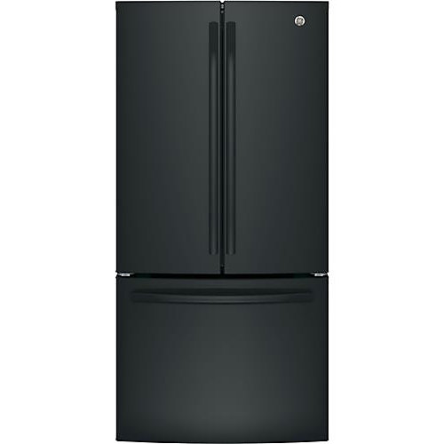 Réfrigérateur à porte française de 33 po de largeur et de 18,6 pi3 de profondeur à comptoir en noir - ENERGY STARMD