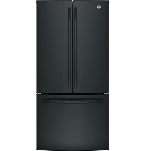 GE 18.6 Cu. Ft. Black Counter-Depth French-Door Refrigerator - ENERGY STAR®
