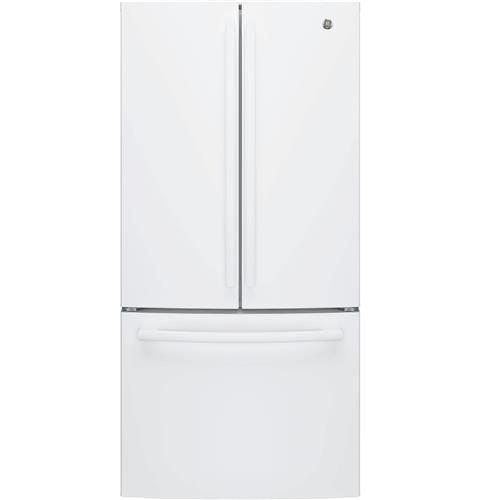 GE 33-inch W 18.6 cu. ft. French Door Refrigerator in White, Counter Depth - ENERGY STAR®