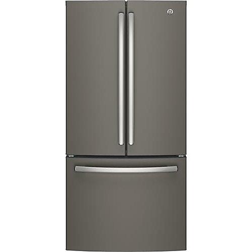 Réfrigérateur à porte française en ardoise de 33 po de largeur et de 18,6 pi3 à comptoir en ardoise - ENERGY STARMD