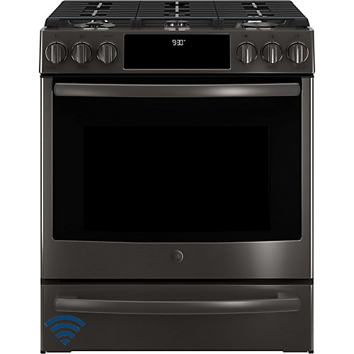 30-inch 5.6 cu. ft. Single Oven Gas Range with Self Cleaning in Black Stainless Steel