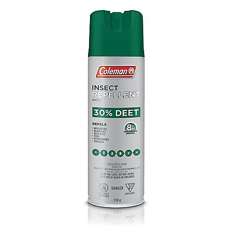 Chasse-moustiques en aérosol de 230 g, 30 % de DEET