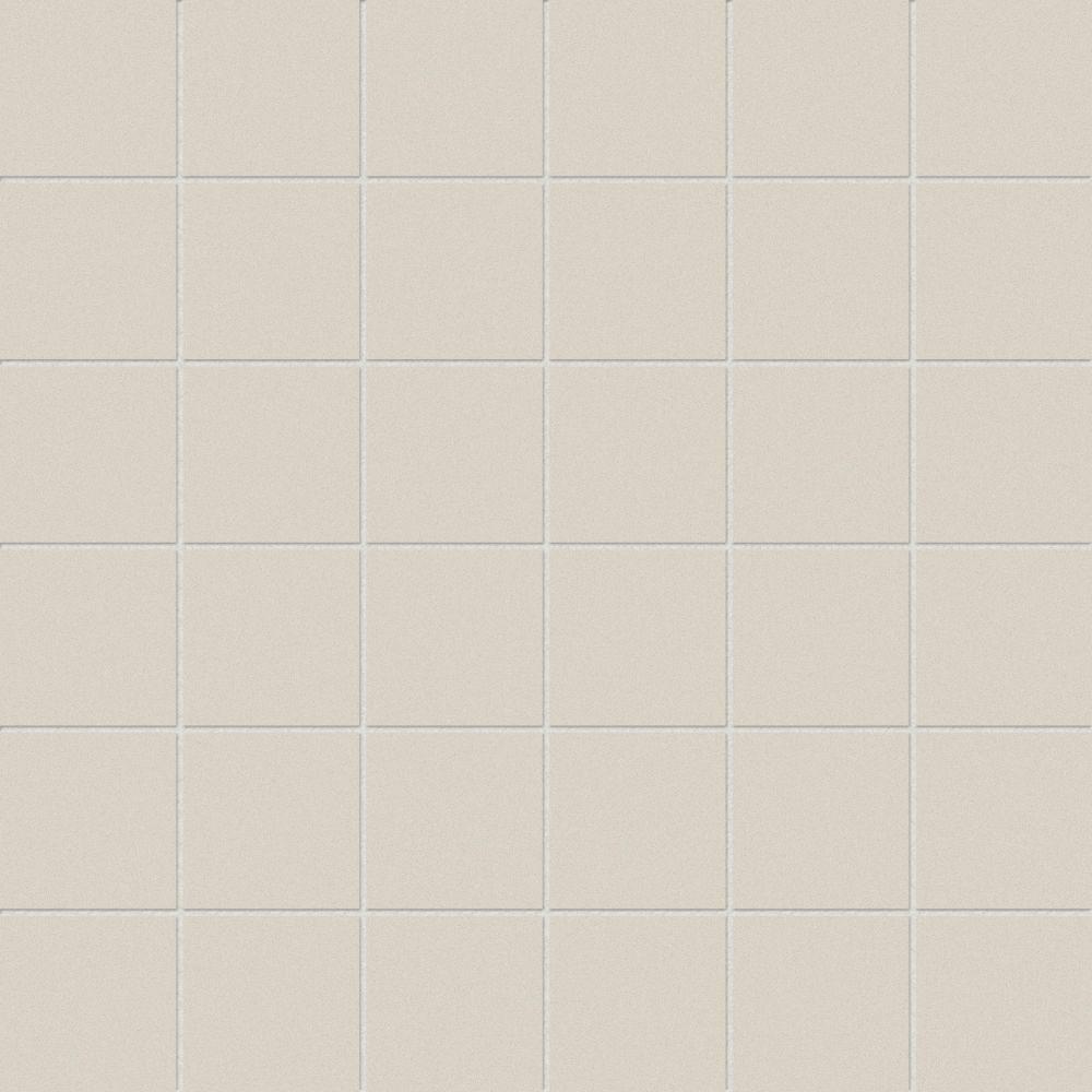 Anatolia 2-inch x 2-inch Belgian Linen Ivory Basketweave Porcelain Mosaics