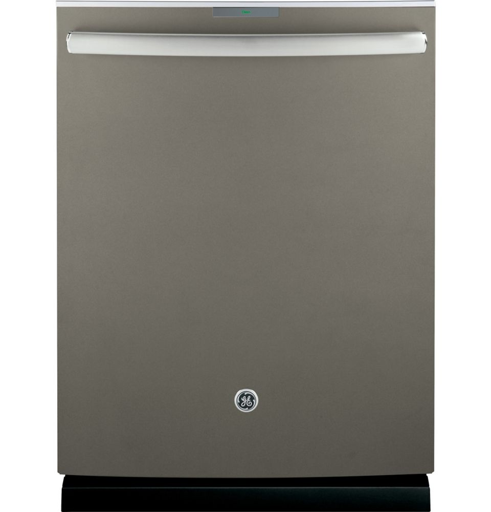 GE Profile 24-inch Top Control Built-In Tall Tub Dishwasher in Slate with Stainless Steel Tub