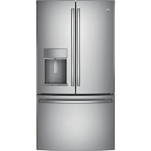 Réfrigérateur à porte française de 36 po W 22,2 pi3 avec porte dans la porte en acier inoxydable